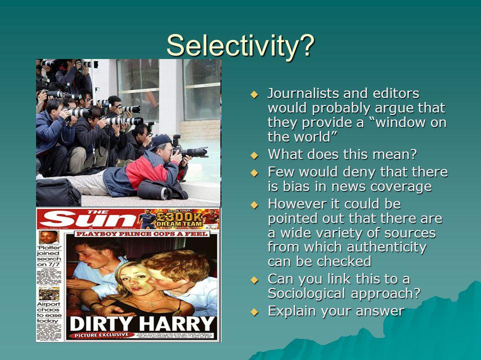 Selectivity.