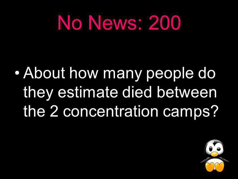 No News Answer: 100 Poland