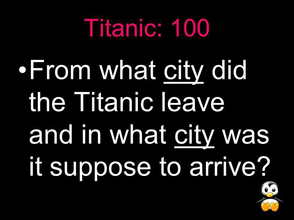 Jeopardy! (Non-Fiction and Grammar Edition!) TitanicNo News Lit. Elements GrammarMisc. 100 200 300 400 500 600