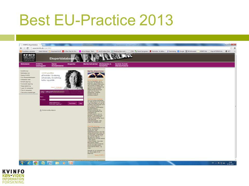 Best EU-Practice 2013