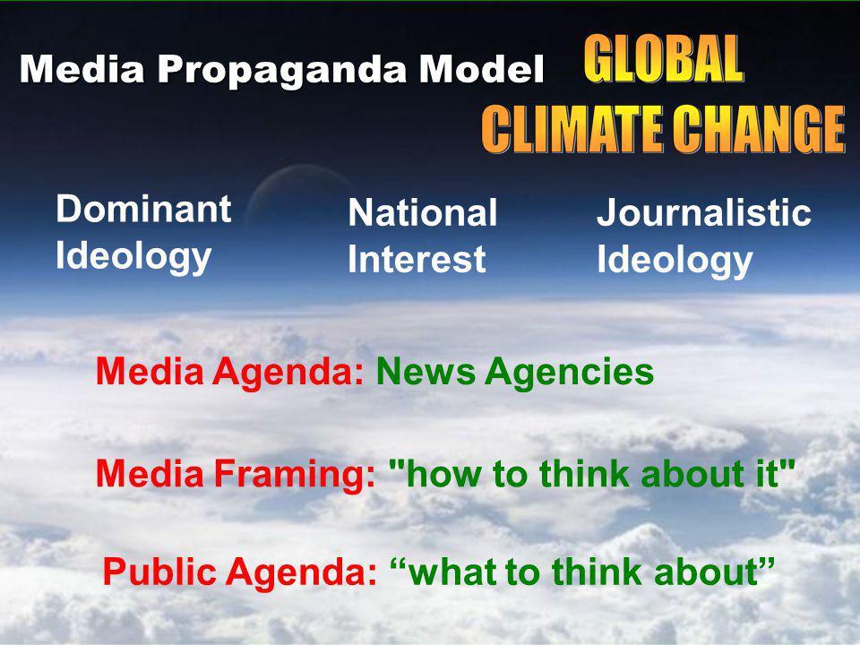 Media Propaganda Model Dominant Ideology National Interest Journalistic Ideology Media Agenda: News Agencies Media Framing: