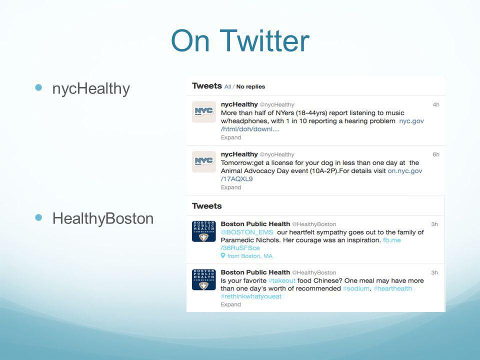 On Twitter nycHealthy HealthyBoston