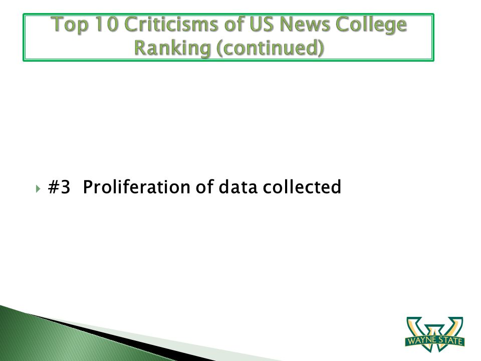 #3 Proliferation of data collected