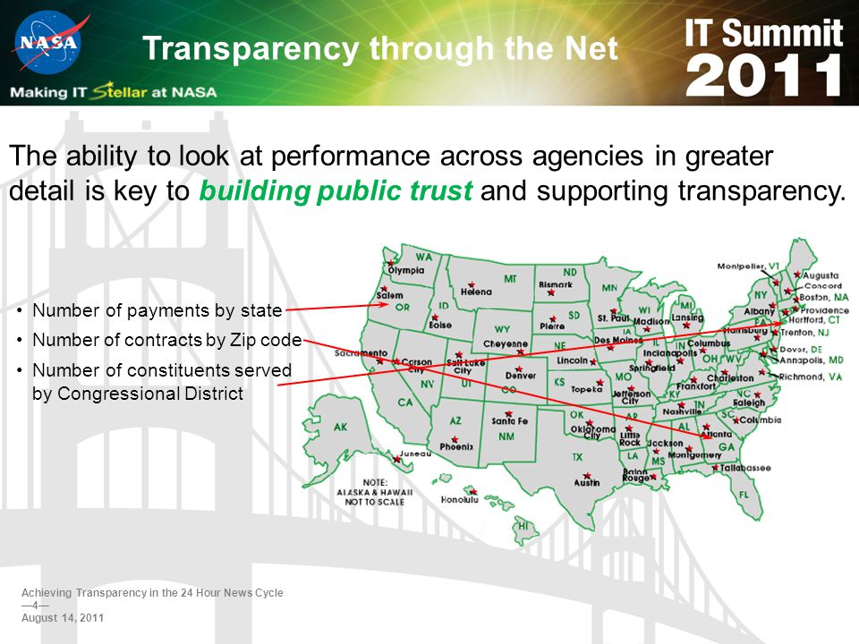 The ability to look at performance across agencies in greater detail is key to building public trust and supporting transparency.
