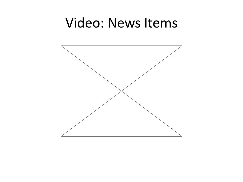 Video: News Items