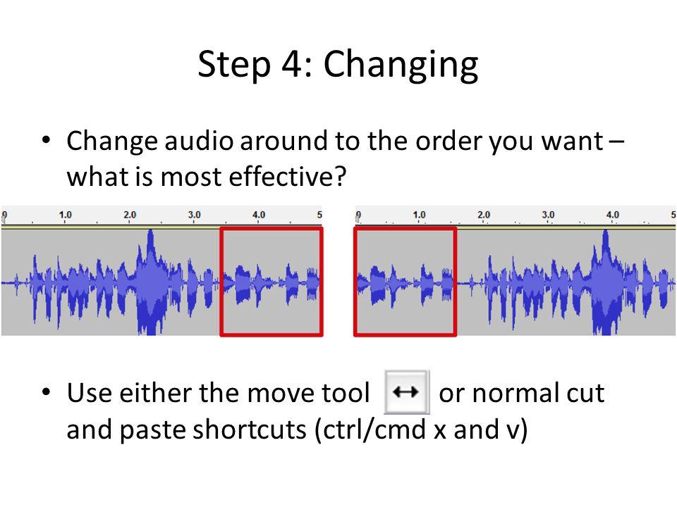 Stereo Tracks vs.Audio Tracks All final audio needs to be on a stereo track (i.e.