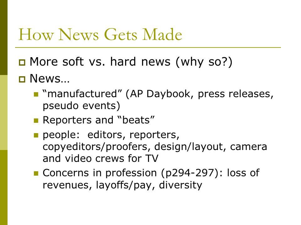 How News Gets Made More soft vs.