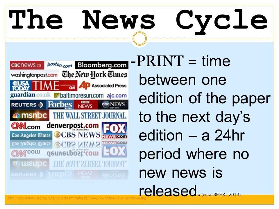 How has the news cycle changed.
