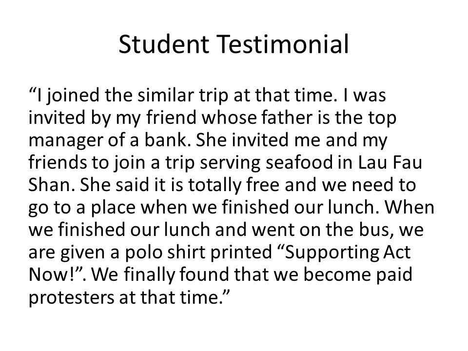 Student Testimonial I joined the similar trip at that time.
