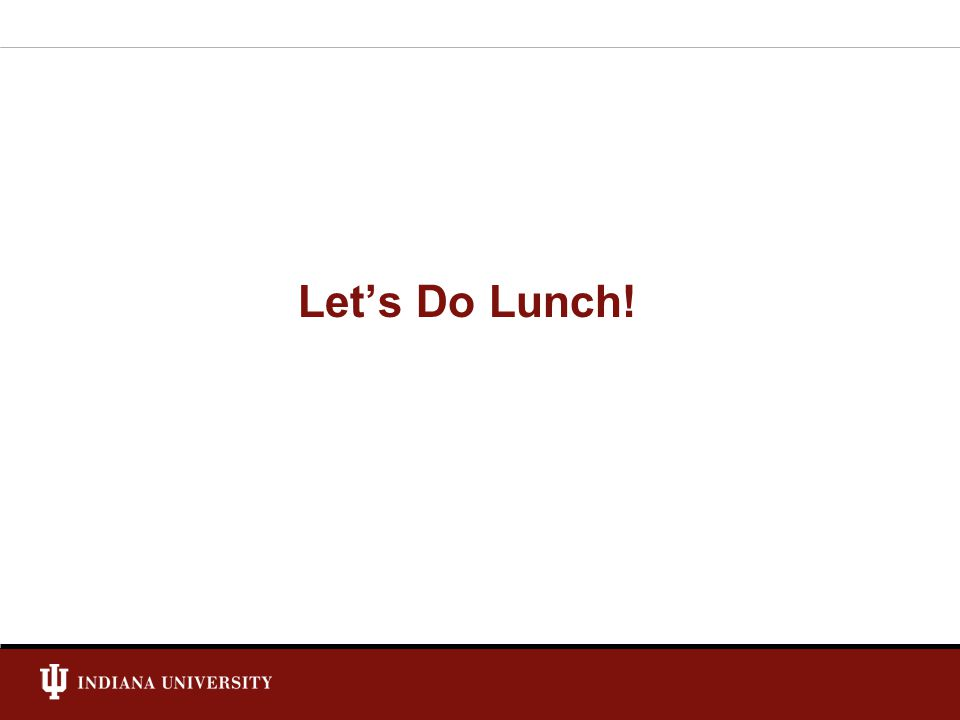 Lets Do Lunch!