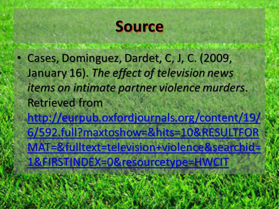 Source Cases, Dominguez, Dardet, C, J, C. (2009, January 16).