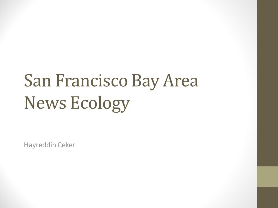 San Francisco Bay Area News Ecology Hayreddin Ceker