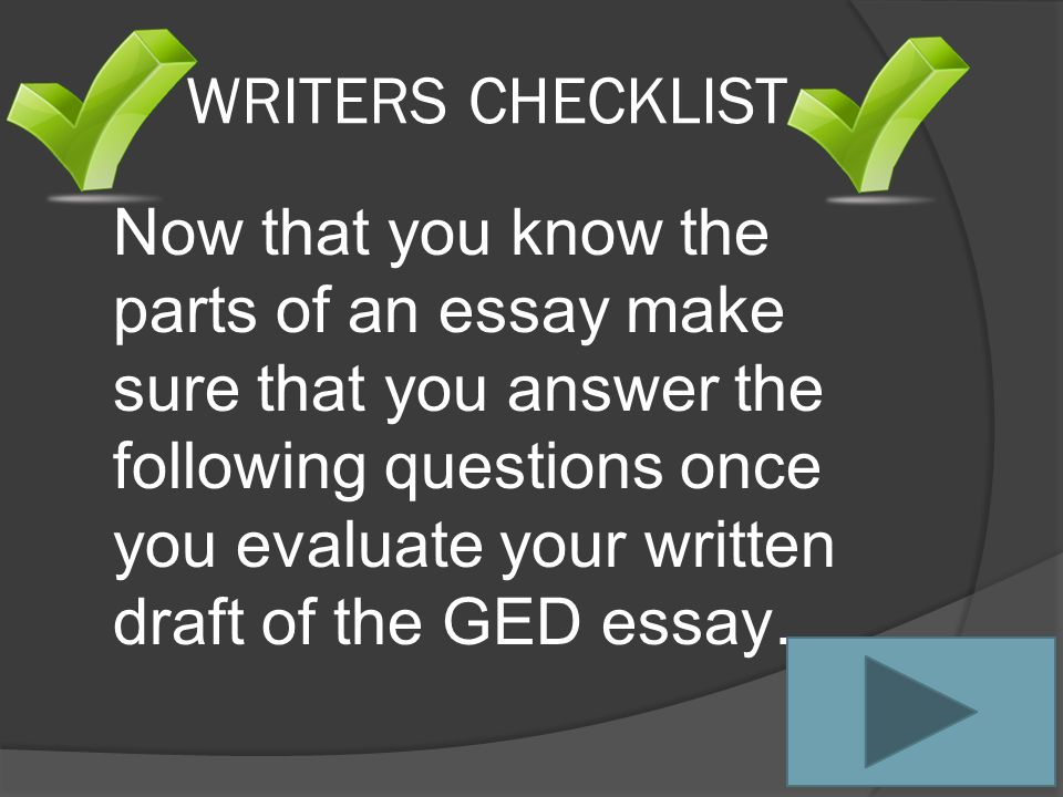 Quick Quiz #3 Click on Home Button after you have answered the question correctly The Body paragraphs of an essay must include which of the following