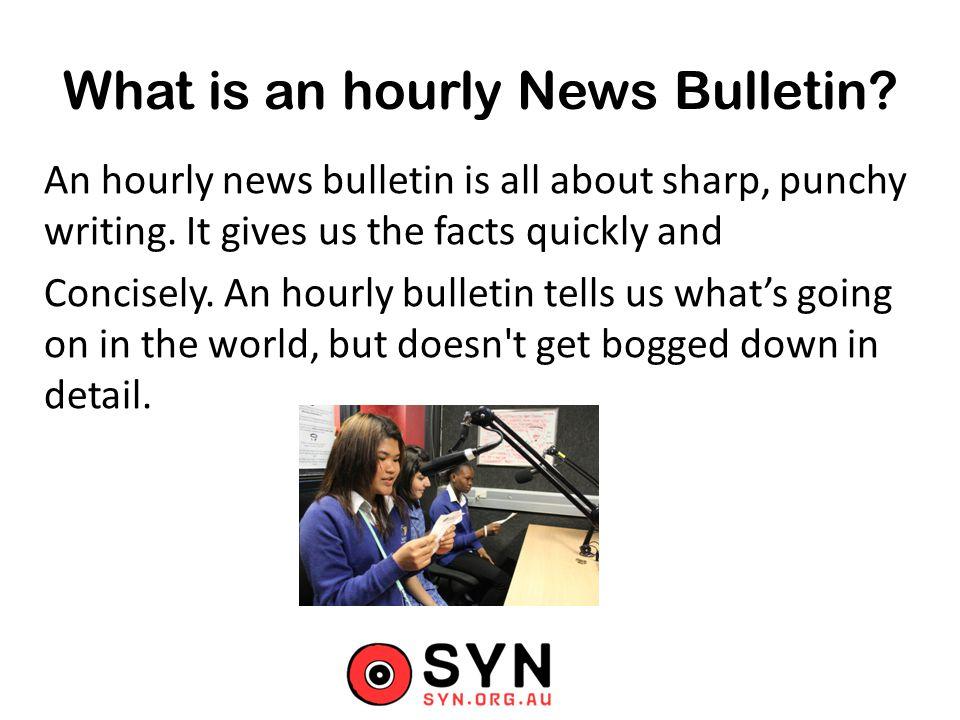 Creating a Radio News Bulletin