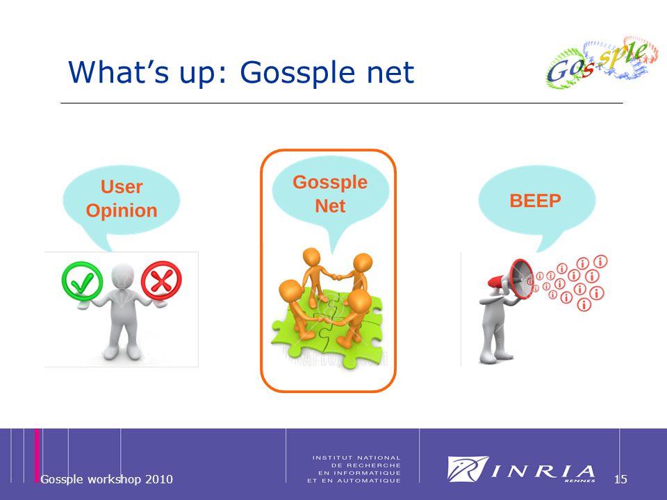 Whats up: Gossple net Gossple workshop 201015