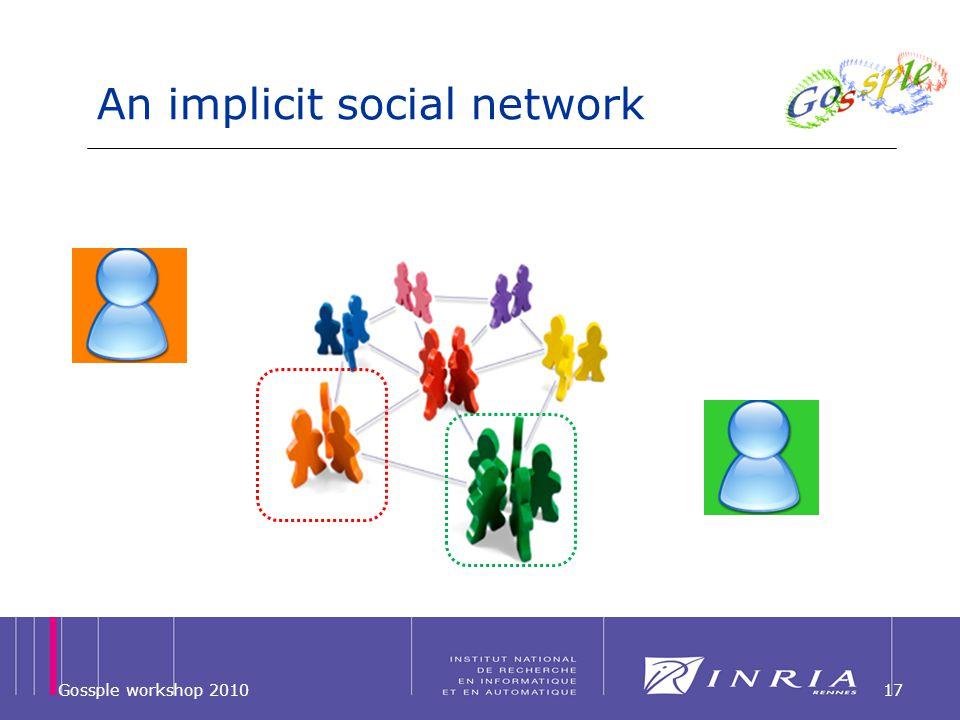 An implicit social network Gossple workshop 201017