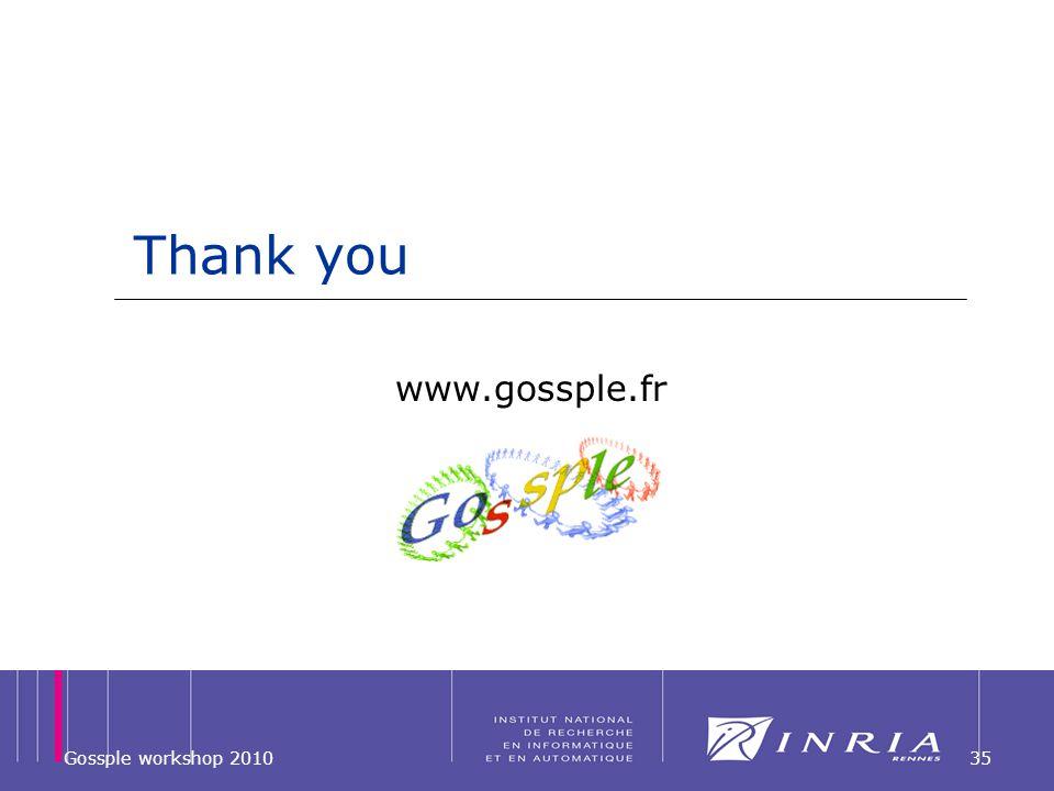 Thank you 35 www.gossple.fr Gossple workshop 2010