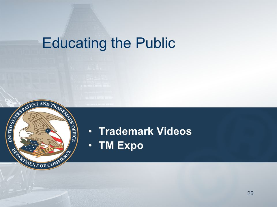 25 Trademark Videos TM Expo Educating the Public