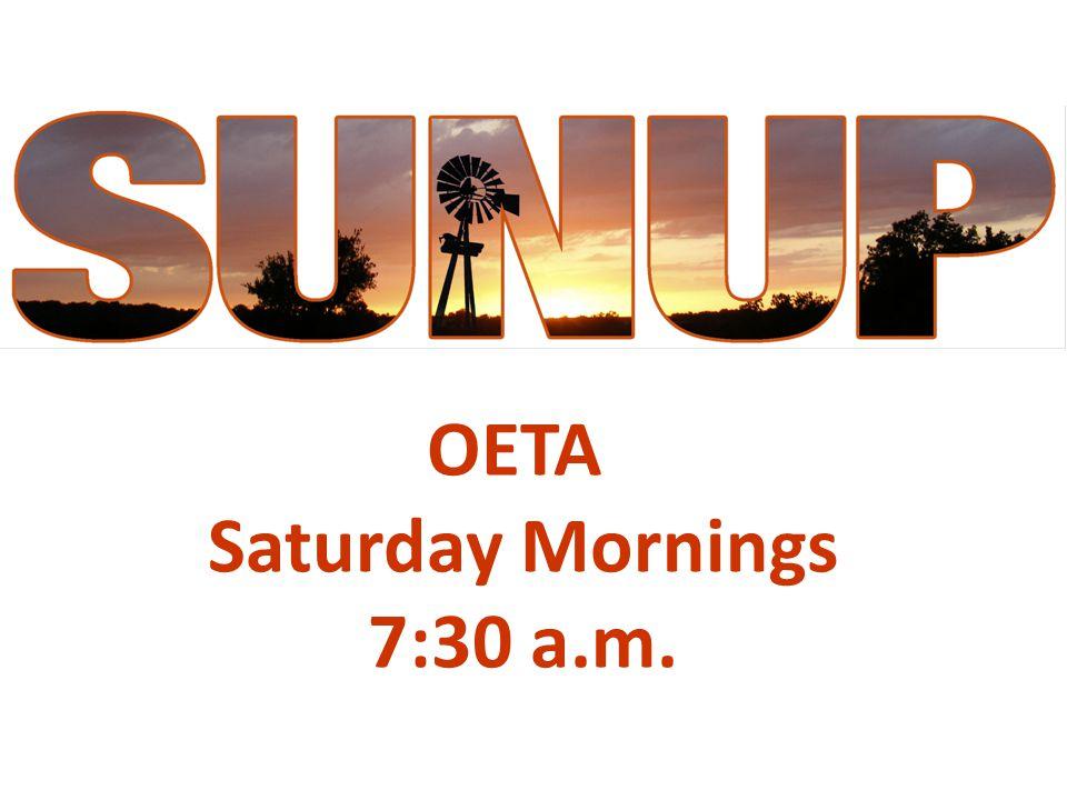 OETA Saturday Mornings 7:30 a.m.