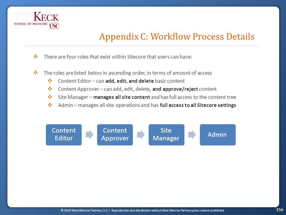 © 2010 West Monroe Partners, LLC | Reproduction and distribution without West Monroe Partners prior consent prohibited. Appendix C: Workflow Process D
