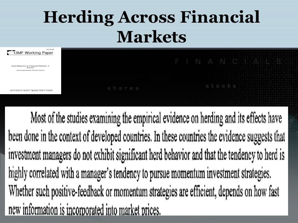 Herding Across Financial Markets