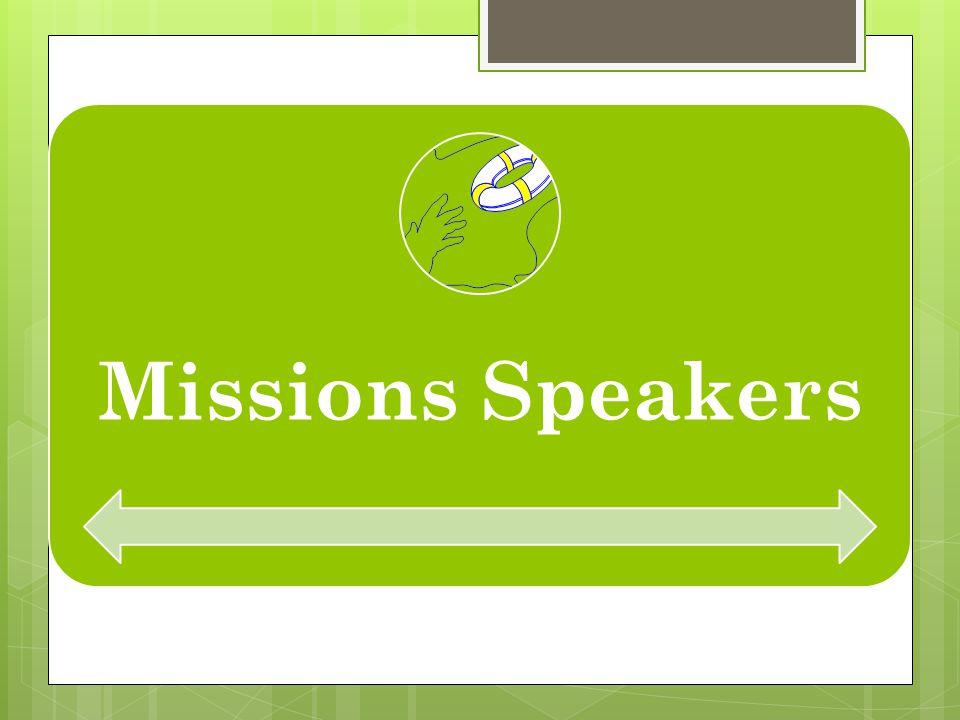 Missions Speakers