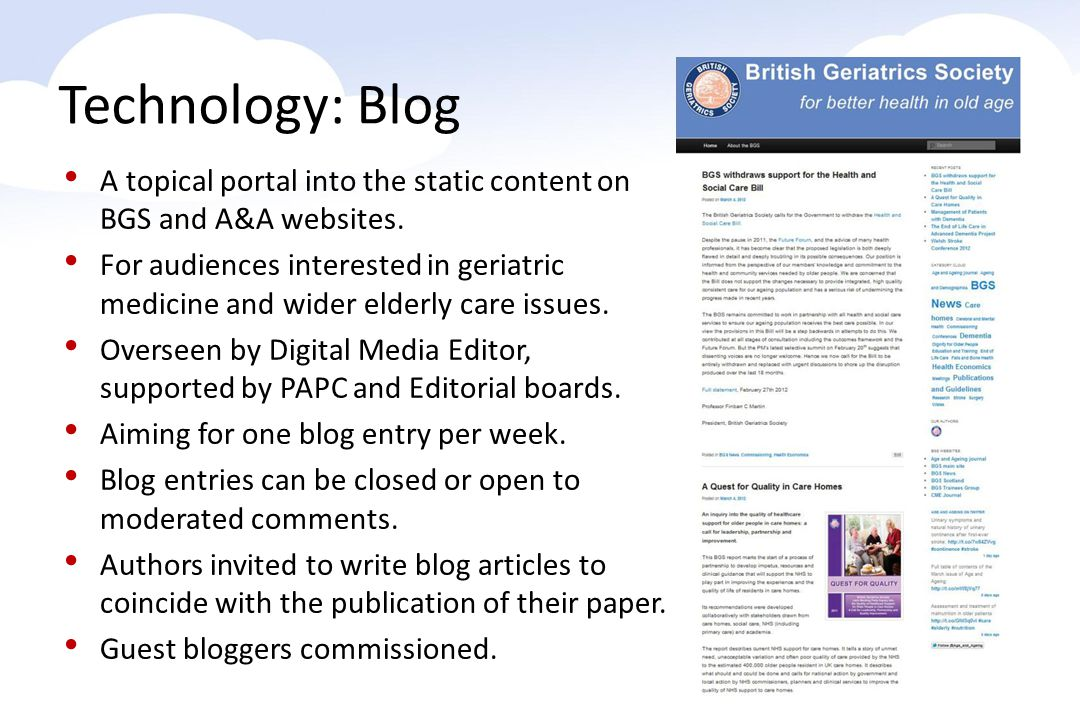 A topical portal into the static content on BGS and A&A websites.
