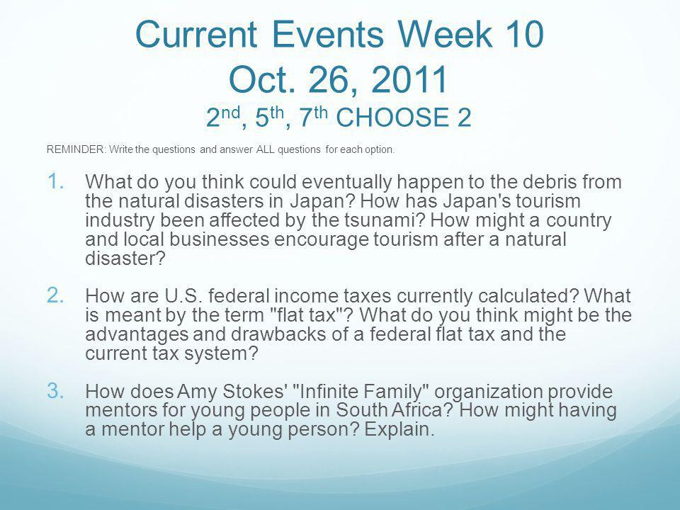 Current Events Week 10 Oct.