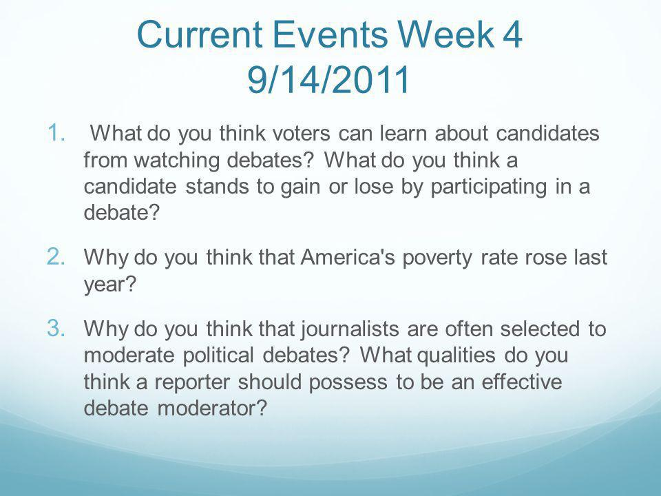 Current Events Week 4 9/14/2011 1.