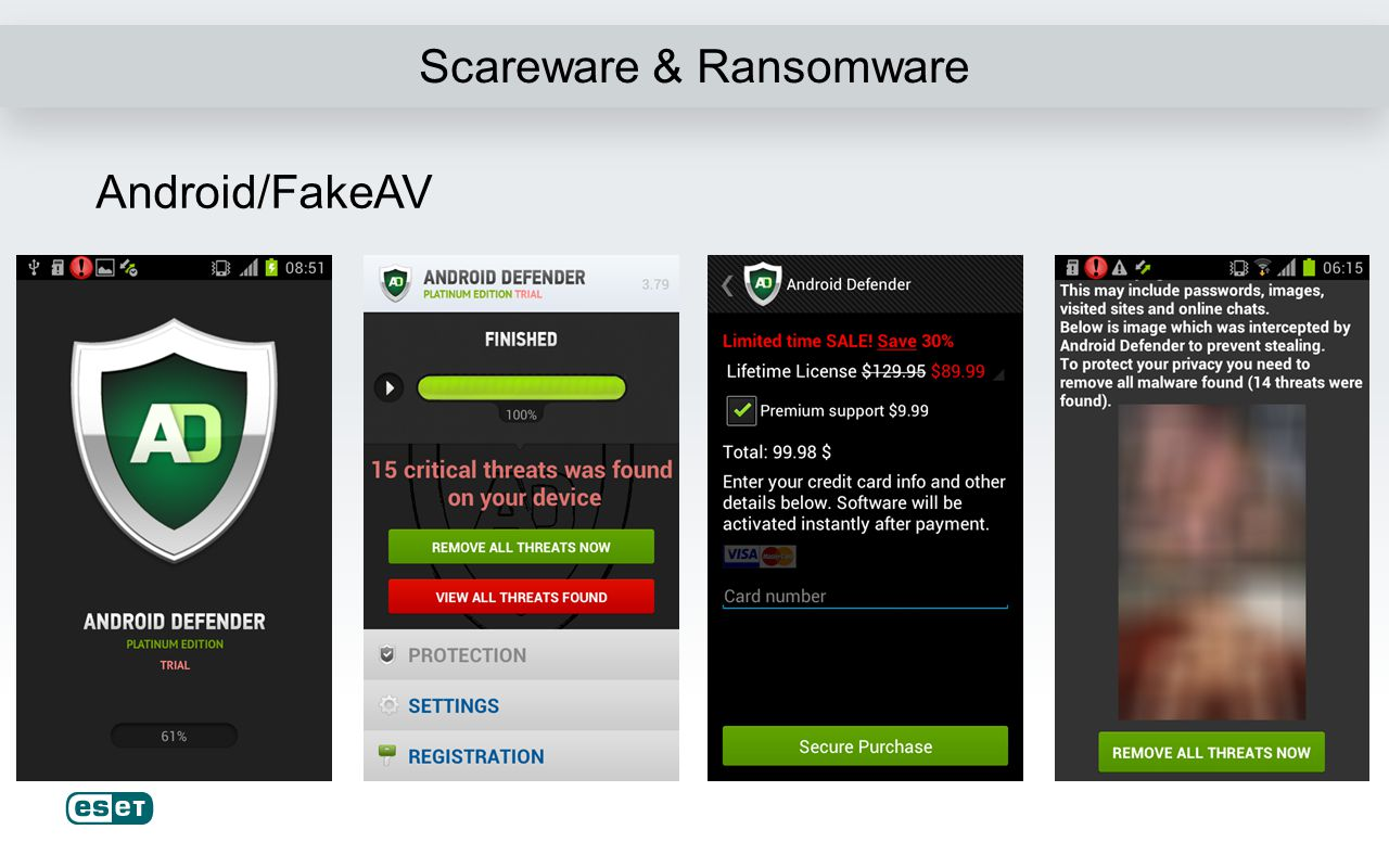 Scareware & Ransomware Android/FakeAV