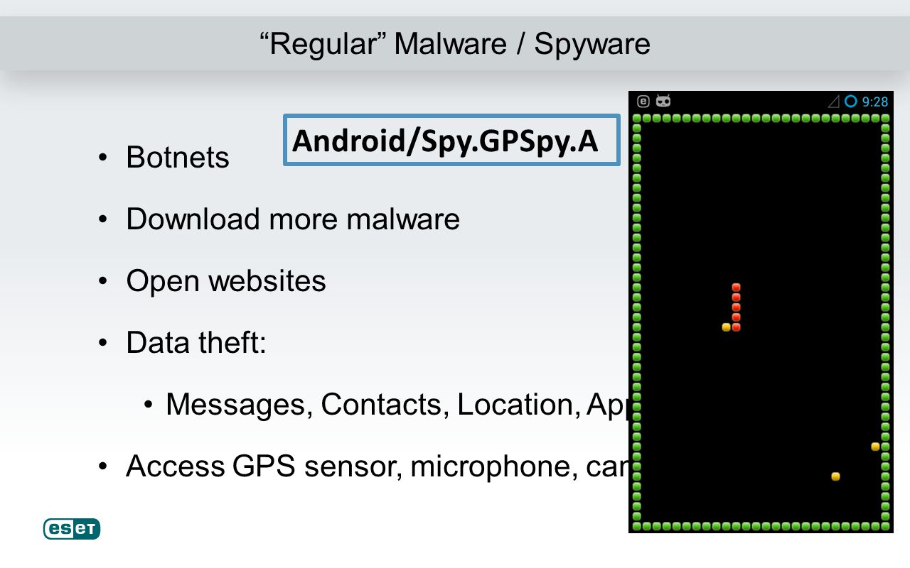 Adware Android/Adware.Waps Android/Adware.Airpush Homescreen shortcuts Browser bookmarks/homepage Notifications Collect information Etc.