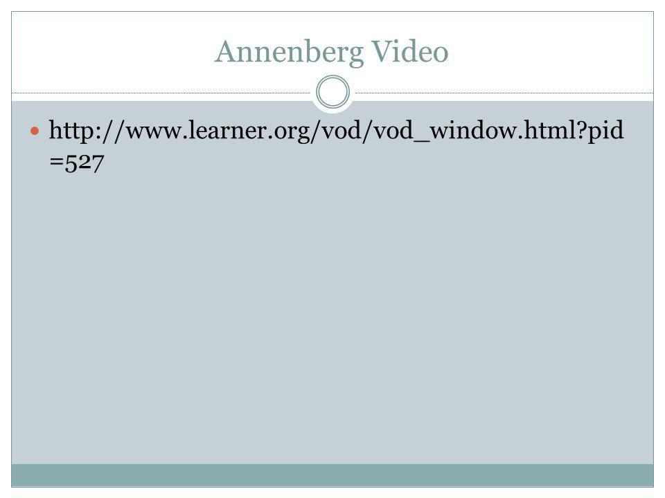 Annenberg Video http://www.learner.org/vod/vod_window.html pid =527