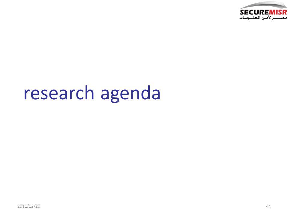 44 research agenda