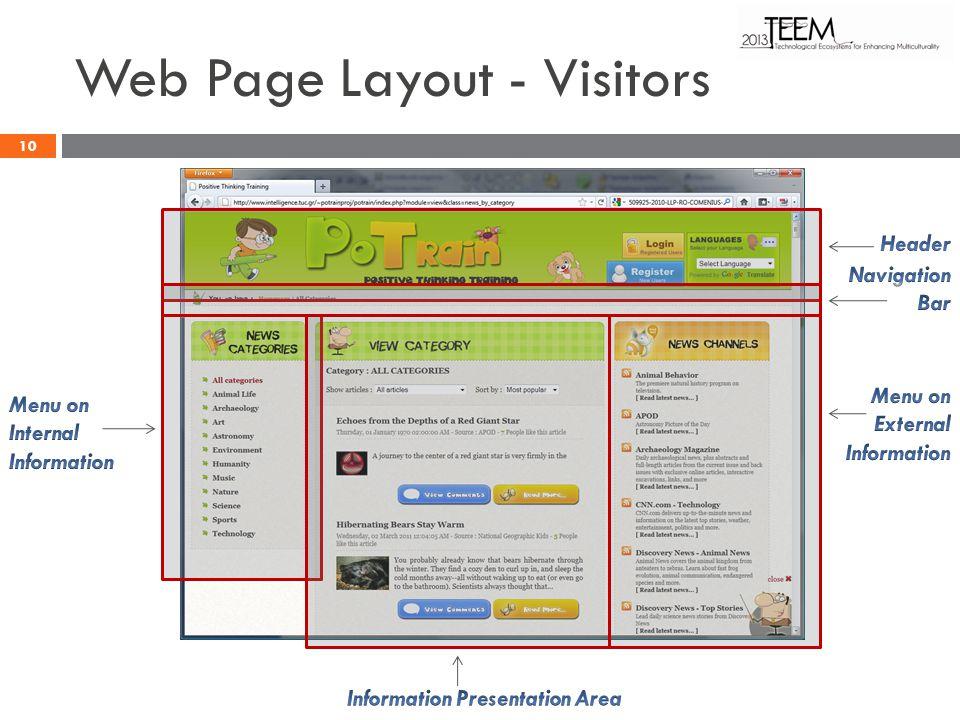 Web Page Layout - Visitors 10