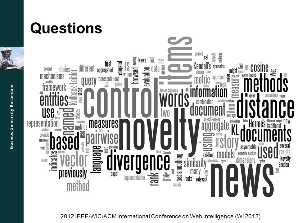 Questions 2012 IEEE/WIC/ACM International Conference on Web Intelligence (WI 2012)