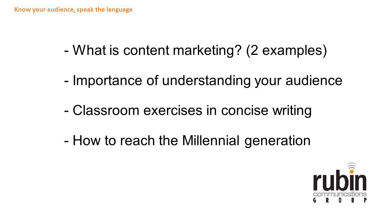 - What is content marketing.