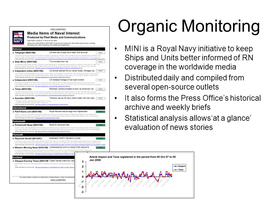 MINI is a Royal Navy initiative to keep Ships and Units better informed of RN coverage in the worldwide media Distributed daily and compiled from seve