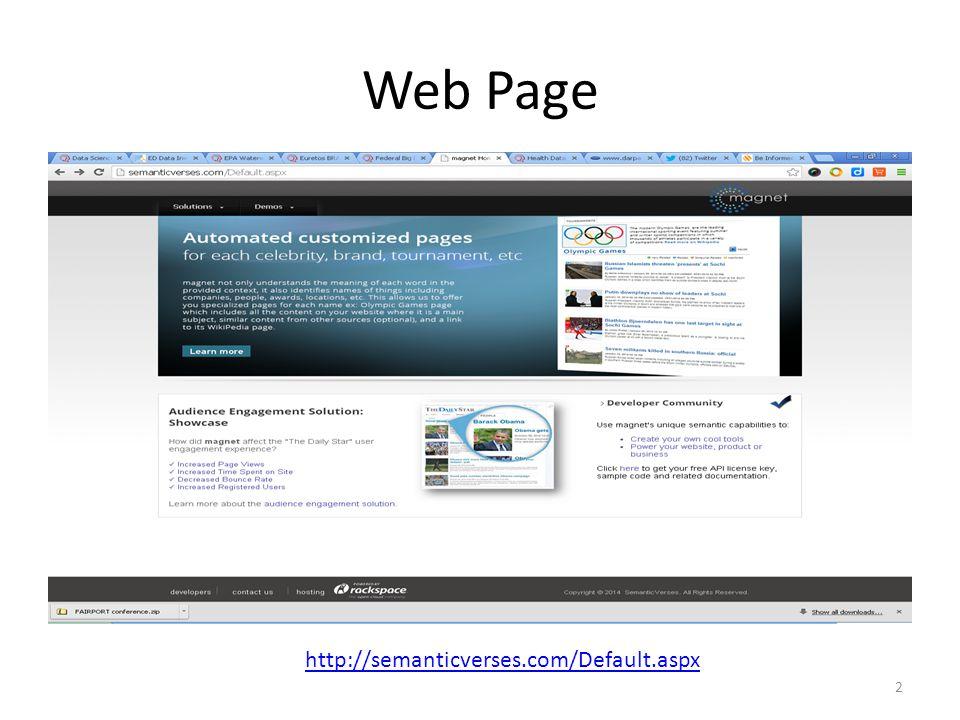 Web Page http://semanticverses.com/Default.aspx 2
