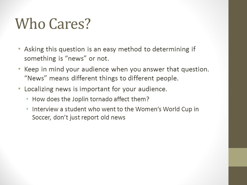 Who Cares.Asking this question is an easy method to determining if something is news or not.