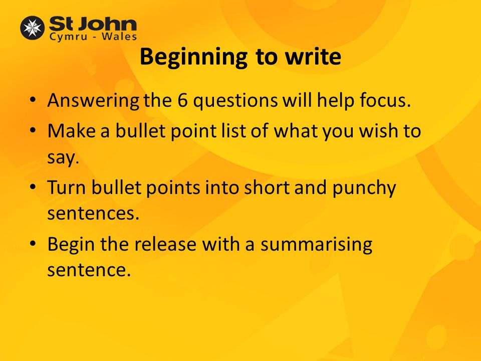 Top tip When writing an intro...