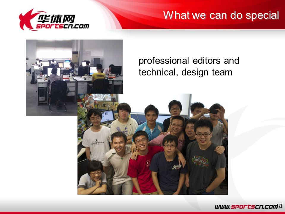 18 professional editors and technical, design team What we can do special