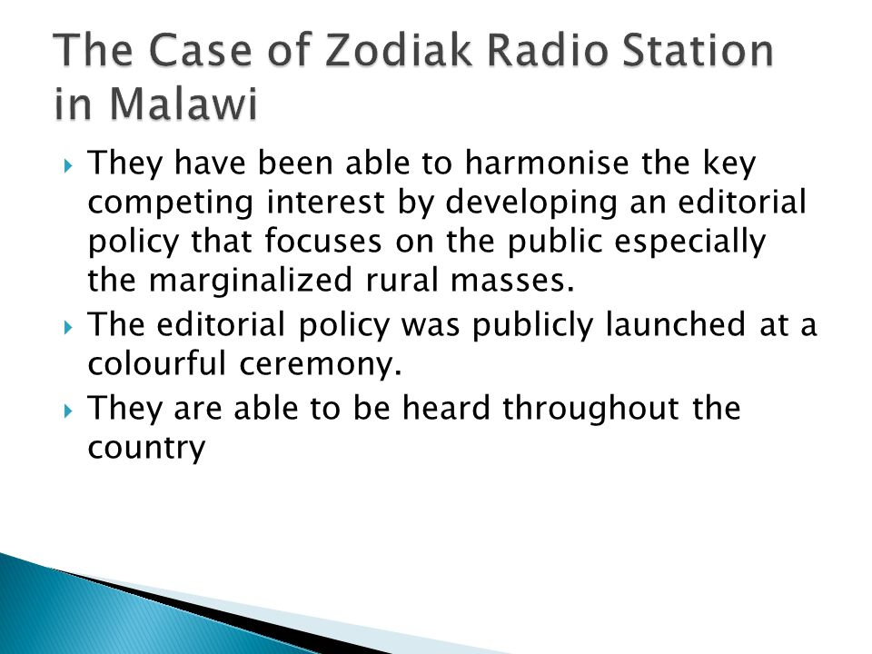 They have been able to harmonise the key competing interest by developing an editorial policy that focuses on the public especially the marginalized r