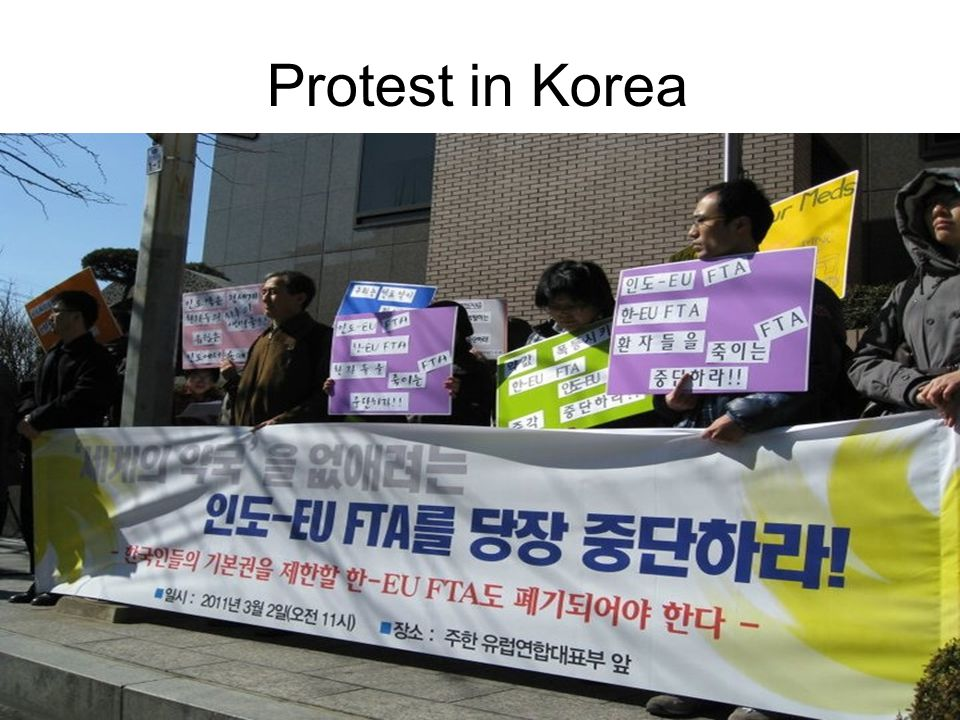 Protest in Korea