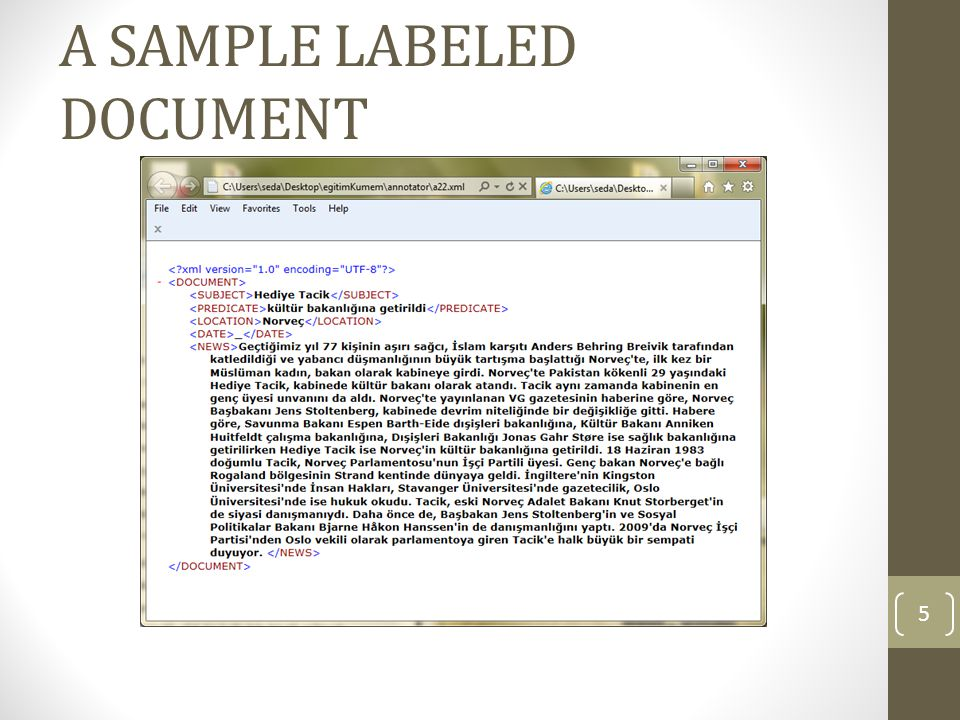 A SAMPLE LABELED DOCUMENT 5