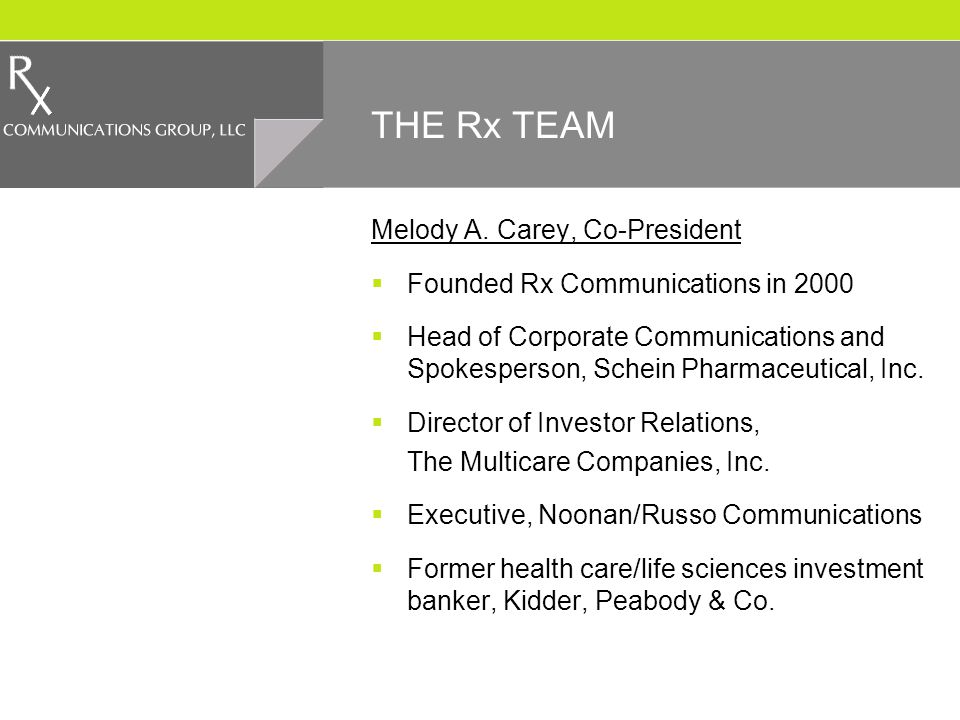 THE Rx TEAM Melody A.