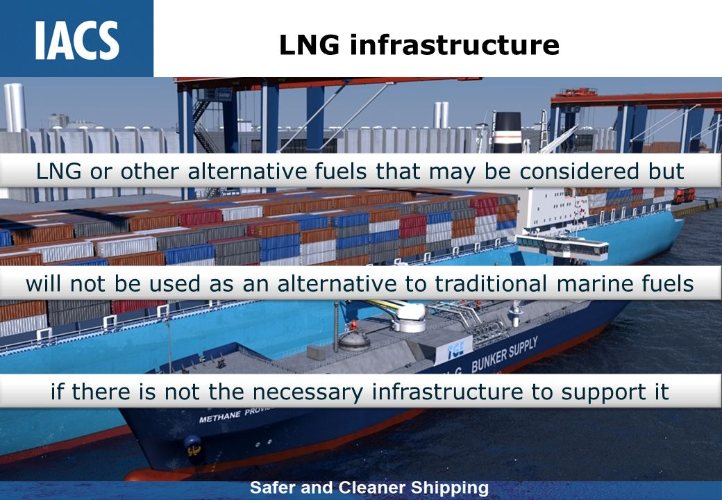 LNG infrastructure LNG or other alternative fuels that may be considered but will not be used as an alternative to traditional marine fuels if there i
