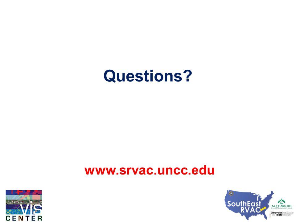 Questions www.srvac.uncc.edu