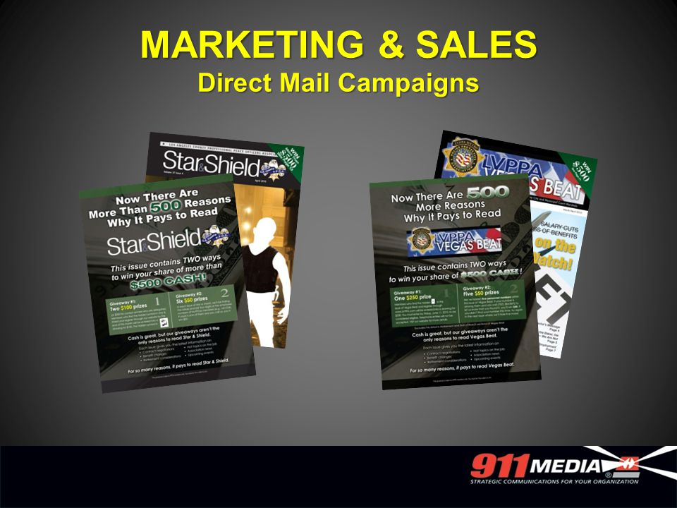 MARKETING & SALES Direct Mail Campaigns