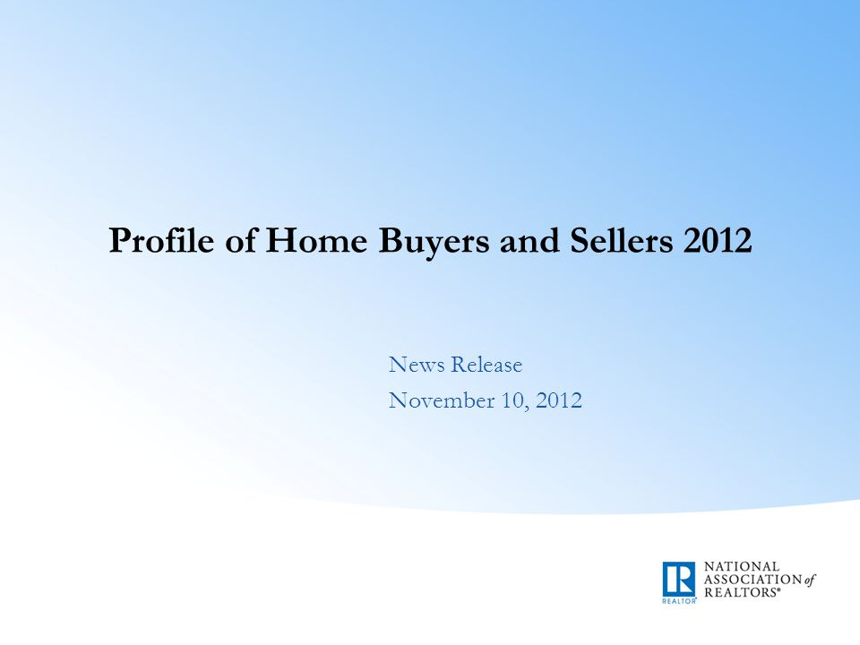 Methodology Surveys mailed to 93,502 households Response rate 9.1 percent with 8,501 responses Purchased a home between July 2011 and June 2012 Addresses from Experian Reflect distribution of home sales in each state