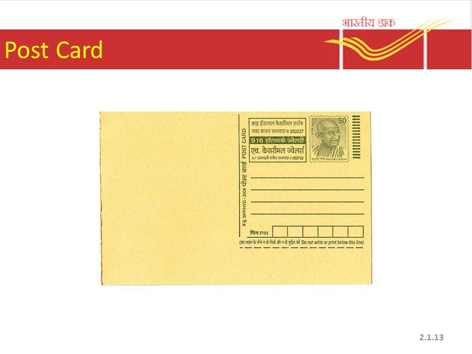 Post Card 2.1.13